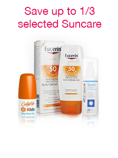 Up to 1/3 off selected Suncare