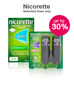 30% off selected Nicorette