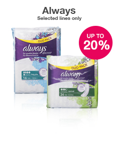 20% off selected Always