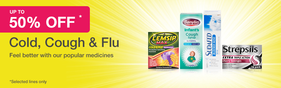 50% Off Cold, Cough & Flu