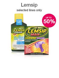 50% off selected Lemsip