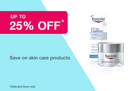 25% off selected Eucerin