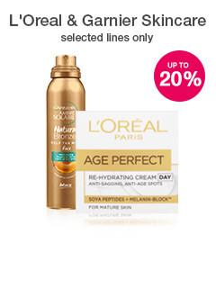 20% off L'Oreal & Garnier Skincare