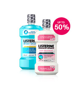 Save up to 50% on selected Listerine