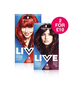 2 for £10 on Schwarzkopf Live