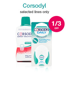 Up to 1/3 off selected Corsodyl