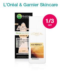 1/3 off L'Oreal & Garnier Skincare