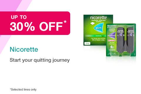 30% off Selected Nicorette
