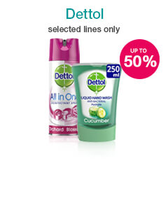 Up to 50% off selected Dettol