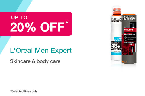20% off selected L'Oreal Men Expert