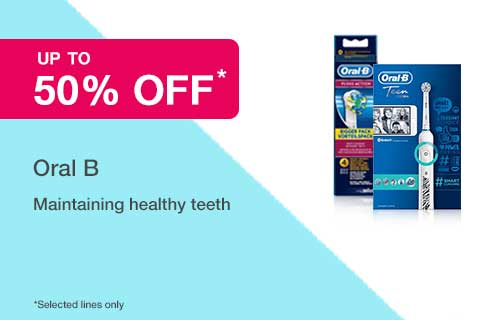50% off selected Oral B