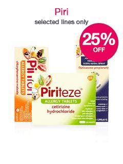 Save 25% on selected Piri