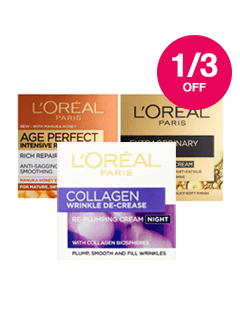 Save up to 1/3 on L'Oreal & Garnier Skincare