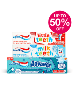Save up to Half Price on Aquafresh