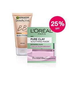 25% off L'Oreal & Garnier Skincare