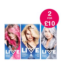 2 for £10 on Schwarzkopf Live