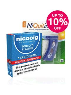 Save up to 10% on Nicocig & Niquitin