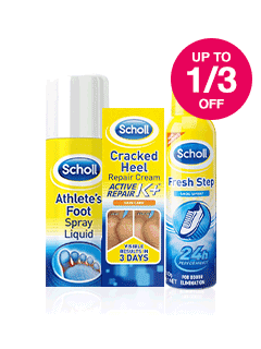 Save up to 1/3 on Scholl