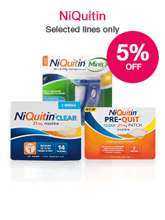 Save 5% on selected NiQuitin