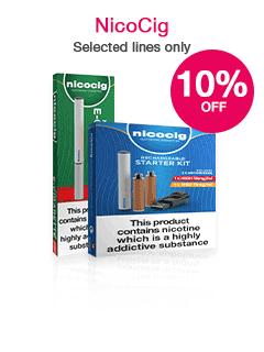 Save 10% on selected NicoCig