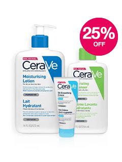 Save 25% on CeraVe