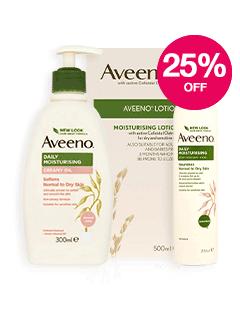 Save 25% on Aveeno
