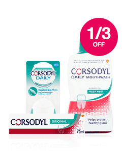 Save 1/3 on selected Corsodyl