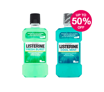 Save up to Half Price on selected Listerine
