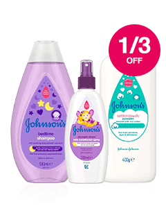 Save 1/3 on selected Johnsons Baby
