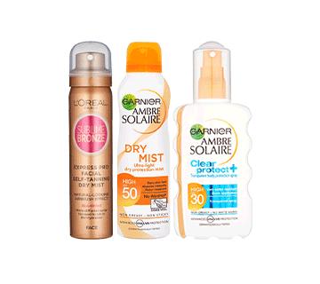 L'Oreal & Garnier Sun Protection, Self Tan & Bronzers