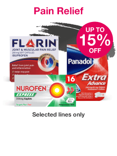 Save up to 15% on selected Pain Relief