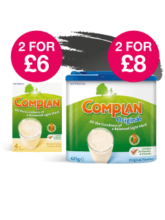 2 for £6 and 2 for £8 on original Complan