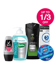 Save up to 1/3 on Top Brands