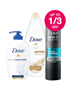 Save up to 1/3 on Dove