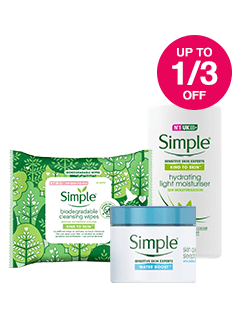 Save up to 1/3 on Simple