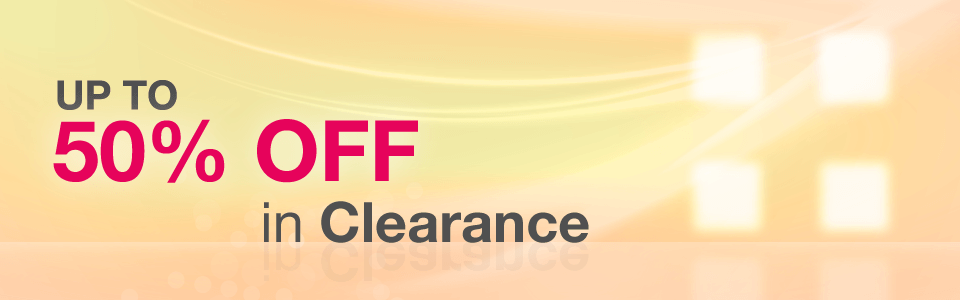 Up to 50% off in Clearance