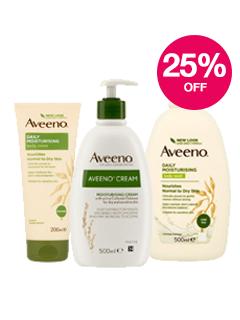 Save 25% on selected Aveeno