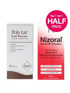 Buy 1 get 2nd Half Price Nizoral & Polytar