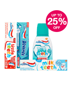 Save up to 25% on selected Aquafresh