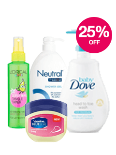 Save 25% on selected Baby Bathing