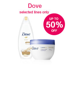 50% off selected Dove