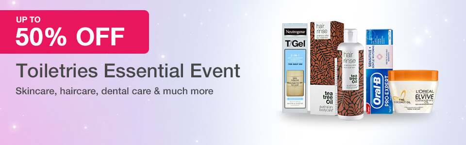 50% Off Toiletries Event