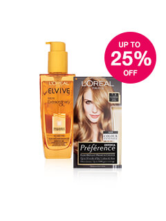 Up to 25% off L'Oreal Haircare & Colour