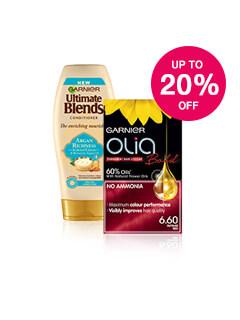 Up to 20% off Garnier Haircare & Colour