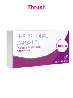 Thrush Oral Capsule Containing Fluconazole