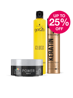 Save up to 25% on Schwarzkopf & G2B Hair Styling Products