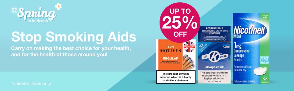 Save 25% on Stop Smoking Aids