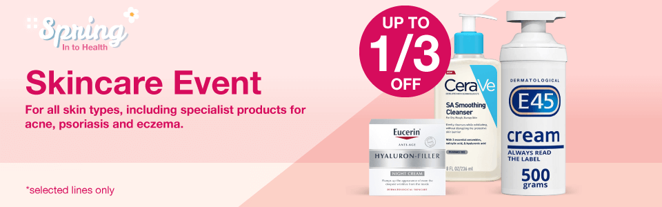 Save 1/3 in our Skincare Event