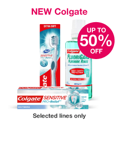 NEW Save up to 50% on selected Colgate
