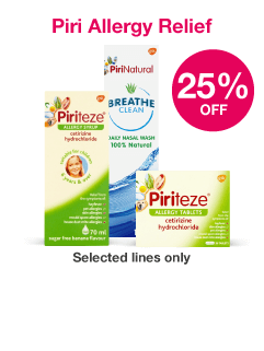 Save 25% on selected Piri